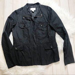 White House Black Market Utility Jacket Zippered